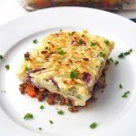 Piece of Instant Pot shepherd's pie on a plate