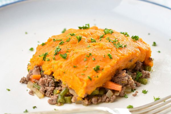 Instant Pot Sweet Potato Shepherd's Pie (Paleo, Whole30, Lactose-Free)